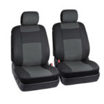 New              4pcs Car Front Seat Covers Cushion Protectoion PU Leather 5 Seater Universal