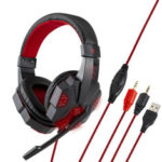 New              3.5mm USB Gaming Headset Bass Headphone Cool LED Light Over Ear Stereo Headphone