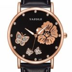 New              YAZOLE 343 Crystal Elegant Design Ladies Wrist Watch