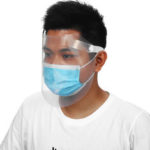 New              1Pcs Transparent Face Mask Cover Face Anti-splash Anti-fog Protective Protection Cover Face Shield Brim