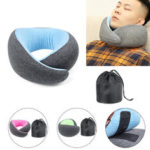 New              Memory Foam U-shaped Pillow Neck Support Travel Office Fitness Relaxing Neck Guard Sleeping Head Cushion