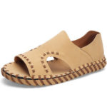 New              Men's Leather Hand-woven Casual Breathable Beach Shoes