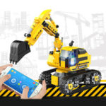 New              580pcs DIY Technic RC Excavator 2.4GHz Remote Control Tracked Program Engineer Car Blocks Building Model Toys