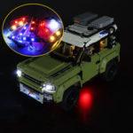 New              DIY LED Light Kit ONLY For LEGO 42110 Technic Land Rover Defender Car Brick