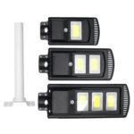 New              120/240/360COB Solar Powered PIR Motion Wall Street Light Lamp for Garden Road