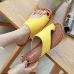 New              Women Clip Toe Pure Color Casual Summer Flat Sandals
