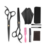 New              9 PCS Professional Hairdressing Scissors Kit Hair Cutting Scissors Hair Scissors Tail comb Hair Cape Hair Cutter Comb