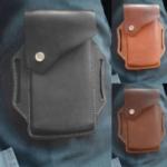 New              Men Genuine Leather Vintage Phone Bag Waist Bag Belt Bag