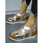 New              Women Large Size Slip Resistant Cross Belt Comfy Casual Sandals