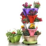 New              Multi-Layer Three-Dimensional Flower Strawberry Basin Superimposed Cultivation Pot for Vegetable Fruit Planting Grow
