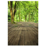 New              3x5FT Forest Scenery Wood Floor Vinyl Backdrop Photography Prop Photo Background