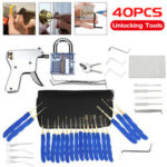 New              40Pcs Unlocking Practice Training Lock Key Extractor Padlock Lockpick Tool Kit