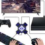 New              KX USB Game Controllers Adapter Converter Video Game Keyboard Mouse Converter for Switch/Xbox/PS4/PS3