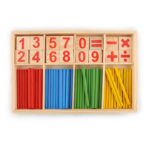 New              Wooden Number Mathematics Early Learning Counting Math Game Educational Kids