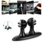New              DM-003 8Pcs Multifunctional Car Earphone USB Cable Cord Winder Wrap Desktop Cable Organizer Wire Management Holder