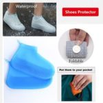 New              Women Waterproof Non-slip Thick Bottom Foldable Portable Wear-resistant Reausable Shoe Covers