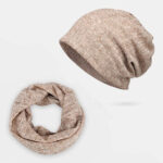 New              Hollow Breathable Beanie Hat Sunscreen Thin Scarf Hat Dual-use Cap