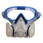 New              2 In 1 Goggles Face Mask Anti Gas/Anti Dust Chemical Pesticide Respirator Dustproof
