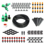 New              157Pcs Micro Drip Irrigation System Plant Self Watering Garden 40M Hose Kit