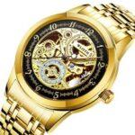 New              WLISTH 1012 Business Luxury Diamond Full Steel Strap Skeleton Luminous Display Men Waterproof Automatic Mechanical Watch