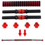 New              Dumbbell Bar Weight Lifting Handle Spinlock Collar Set Dumbbell Fitness Home Gym