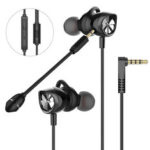 New              Langsdom G200X Gaming Headset Dual Dynamic Driver Stereo Wired In-ear Earphone Noise Cancelling with Dual Mic for PS4 PC Computer