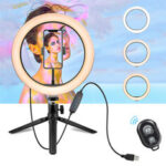 New              10 Inch LED Ring Light Dimmable Desktop Selfie Light Tripod Stand for YouTube Tiktok Video Live Stream Makeup Photography