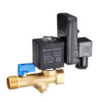 New              LAIZE AC220V Electronic Automatic Timed Water Tank Direct-acting Drain Valve 20mm DN15 Thread Connecting