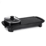 New              AUGIENB 2 In 1 Electric Barbecue Pan Grill Teppanyaki Cook Fry BBQ Oven Hot