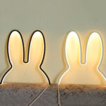 New              Ins Nordic Style Children Decoration Creative Led Lamp Rabbit Night Light