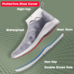 New              Women Reusable Waterproof Thickening Washable Non Slip Portable Shoe Covers