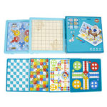 New              6 in 1 Multifunctional Game Chess Board Game Family Games Science and Education Kids Toy