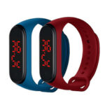 New              Bakeey V8 Body Temperature Monitoring Thermometer Bracelet Big Number Display Smart Watch
