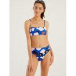 New              Women Print Spaghetti Straps Bandeau High Waist Panty Hot Bikini