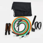 New              11Pcs/Set Fitness Resistance Bands Yoga Gym Stretch Pull Rope Exercise Training Expander
