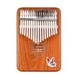 New              GECKO 17 Keys Kalimbas Mbira African Mahogany Finger Thumb Piano Wooden Keyboard Percussion Musical Instrument Gift