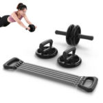 New              Muscle Training Double Wheel Abdominal Roller Stretch Indoor Sports Exercise Tools Fitness Equipment