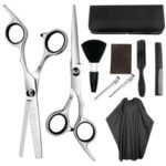 New              Hairdressing Tools Barber Scissors Dental Scissors Flat Shears Household Set