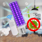 New              Disinfection UV Lamp 30W E27 LED Bulb Ultraviolet Bacteria Cleaner Corn Light with 110V/220V Remote Control