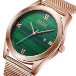 New              TEMEITE T204G Stainless Steel Strap Men Quartz Watch