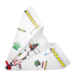 New              550mm Wingspan DIY Magic Board Paper RC Airplane RC Plane PNP for Beginner