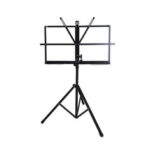 New              Adjustable Foldable Sheet Music Violin Stand Holder Tripod Base Metal with Carry Bag