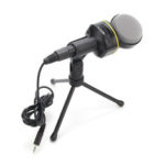 New              SF-930 3.5mm Studio Professional Condenser Sound Recording Microphone with Tripod Holder for PC Laptop