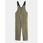 New              Mens 100% Cotton Plain Big Pocket Casual Cargo Long Rompers Pants