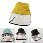 New              ZANLURE Children Anti-Fog Saliva Dustproof Protective Fisherman Bucket Hat Transparent Protective Mask Hat
