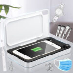 New              UV Cell Phone Sanitizer Box Wireless Charger Phone Sterilizer Disinfection For Smart Phone Face Mask Watch Jewelry