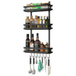 New              3 Tier Kitchen Refrigerator Storage Rack Fridge Seasoning Organizer Hang Shelf