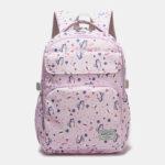 New              Women Waterproof Large Capacity Print Nylon Casual Backpack