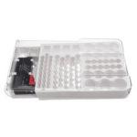 New              93 Battery Storage Caddy Box Case Holder Organizer Capacity Rack W Tester