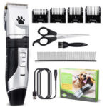 New              Rechargeable Cordless Pet Hair Clipper Professional Animal Dog Cat Electric Hair Trimming Clippers Set